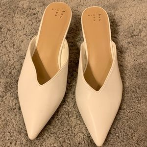 A New Day White Kitten Mules